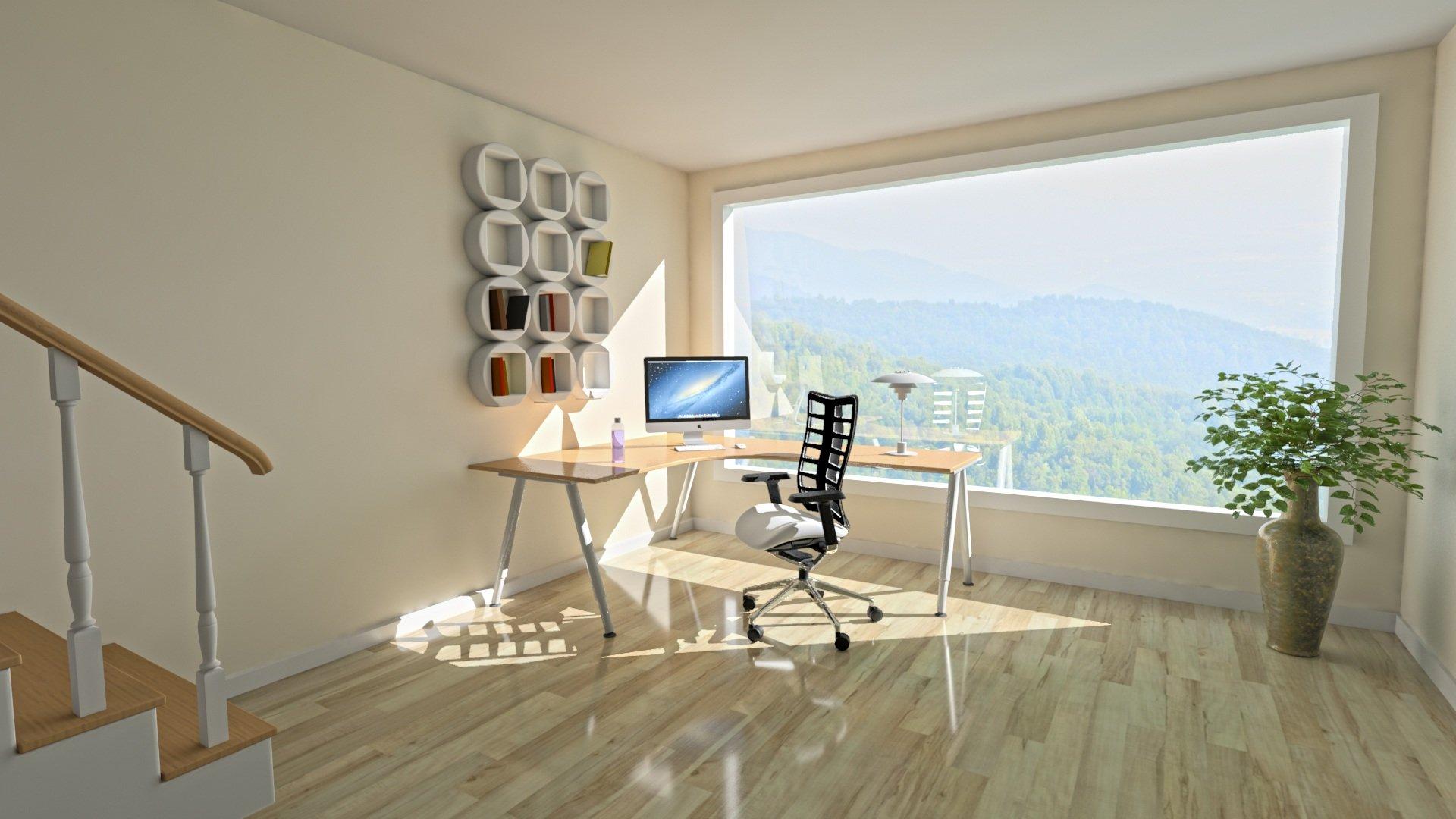 Otra idea de espacio designado para trabajar desde casa